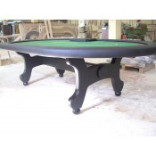 Стол для покера «Стандарт» с классическими Н-ногами
