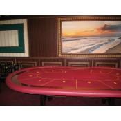 Стол для покера «Полулюкс» с классическими Н-ногами
