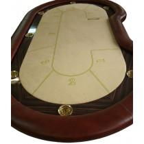Стол для покера «ЛЮКС» с классическими Н-ногами